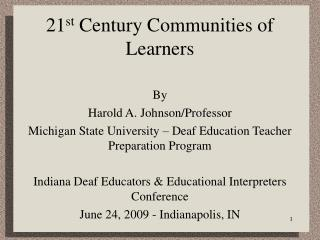 21st Century Communities of Learners