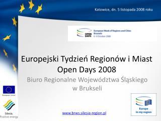 Europejski Tydzień Regionów i Miast Open Days  2008