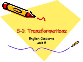 5-1: Transformations