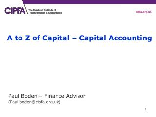 A to Z of Capital   Capital Accounting