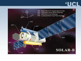 EIS - MSSL/NRL EUV Imaging Spectrometer SOT - ISAS/NAOJ Solar Optical Telescope