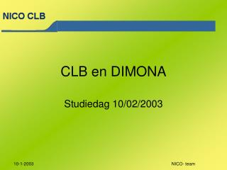 CLB en DIMONA