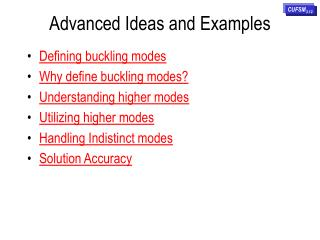 Advanced Ideas and Examples