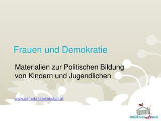 Frauen und Demokratie