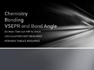 Chemistry Bonding VSEPR and Bond Angle