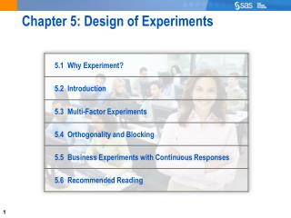 Chapter 5: Design of Experiments
