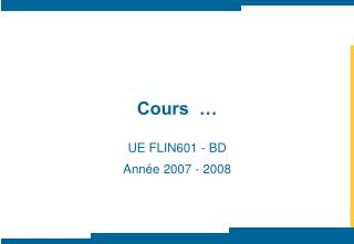 Cours  …