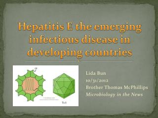 Hepatitis  E the emerging infectious disease in developing countries