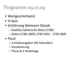 Programm 09.01.09