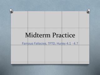 Midterm Practice