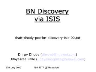 BN Discovery via ISIS