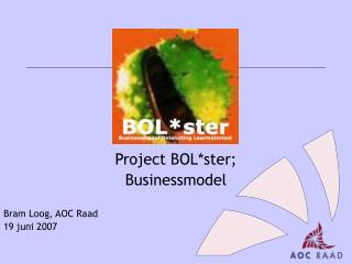 Project BOL*ster;  Businessmodel