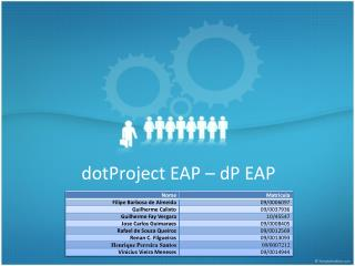 dotProject EAP –  dP  EAP