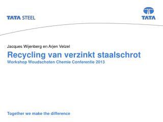 Recycling van verzinkt staalschrot Workshop Woudschoten Chemie Conferentie 2013