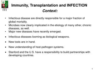Immunity, Transplantation and INFECTION