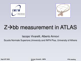 Z bb measurement in ATLAS