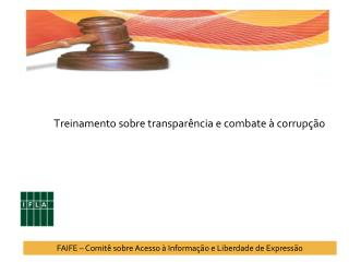 Treinamento sobre transparência e combate à corrupção