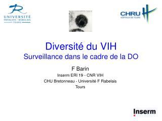 Diversité du VIH Surveillance dans le cadre de la DO