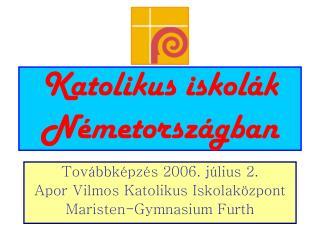 Katolikus iskolák Németországban