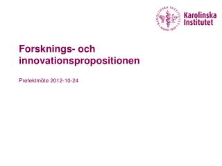 Forsknings- och innovationspropositionen