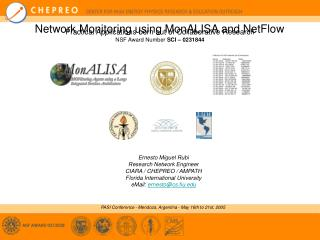 Network Monitoring using MonALISA and NetFlow