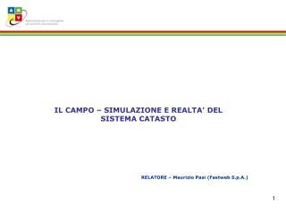 RELATORE � Maurizio Pasi (Fastweb S.p.A.)
