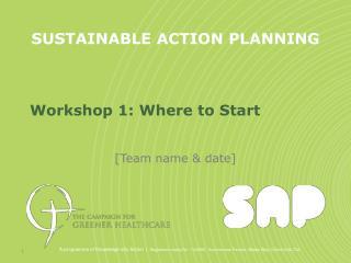 Workshop 1: Where to Start