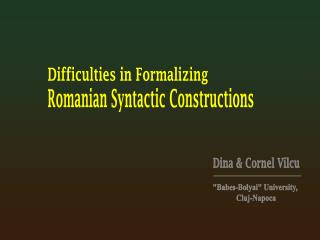 Difficulties in Formalizing