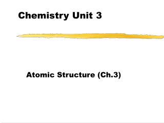 Chemistry Unit 3