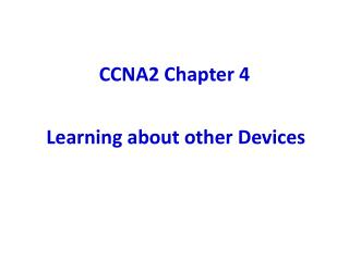 CCNA2 Chapter 4