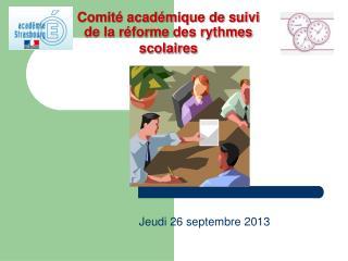 Comité académique de suivi de la réforme des rythmes scolaires