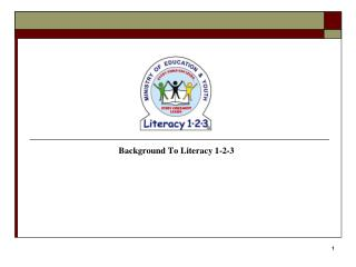 Background To Literacy 1-2-3