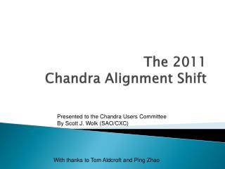 The 2011 Chandra Alignment Shift