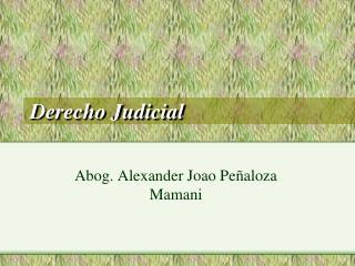 Derecho Judicial
