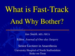 What is Fast-Track And Why Bother?