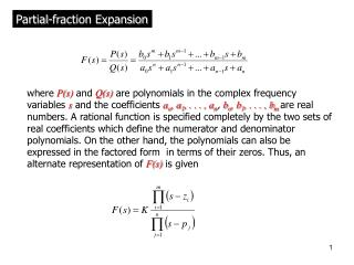 Partial-fraction Expansion