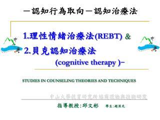 中山大學教育研究所  諮商理論與技術研究