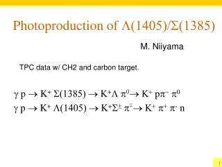 Photoproduction of  L(1405)/S(1385)