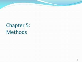 Chapter 5:  Methods