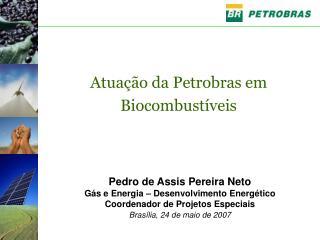 Pedro de Assis Pereira Neto Gás e Energia – Desenvolvimento Energético