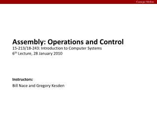 Assembly: Operations and Control