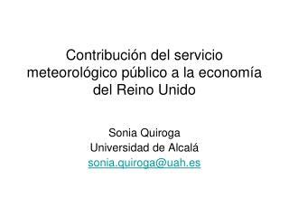 Contribución del servicio meteorológico público a la economía del Reino Unido