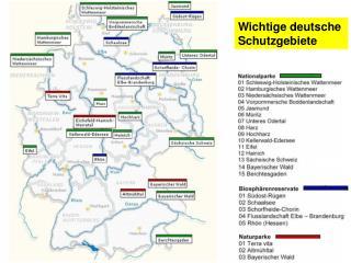 Wichtige deutsche  Schutzgebiete