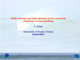 Finite volumes and finite elements for the numerical simulation of wave breaking F. Golay