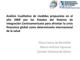 Elena Castro de Montúfar Marco Antonio Figueroa Carmen Vilanova de Denys