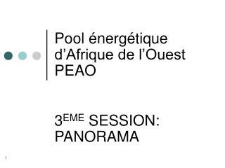 Pool énergétique d'Afrique de l'Ouest PEAO