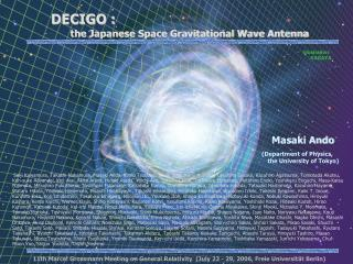 DECIGO : the Japanese Space Gravitational Wave Antenna