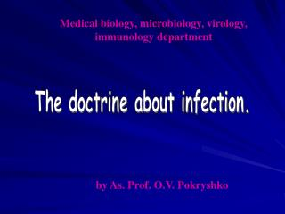 The doctrine about infection.