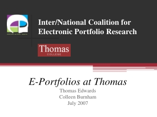 Electronic Professional Portfolios