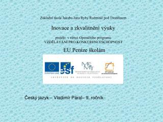 Český jazyk – Vladimír Páral– 9. ročník